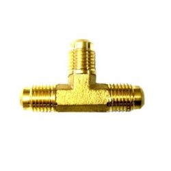 "Brass fitting T"" 1/2""SAE x 1/2""SAE x 1/2""SAE"""