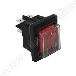 Built-in universal switch, 22 x 30mm (red)
